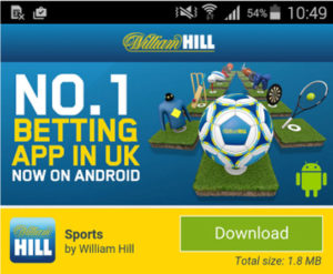 William Hill - download app Android
